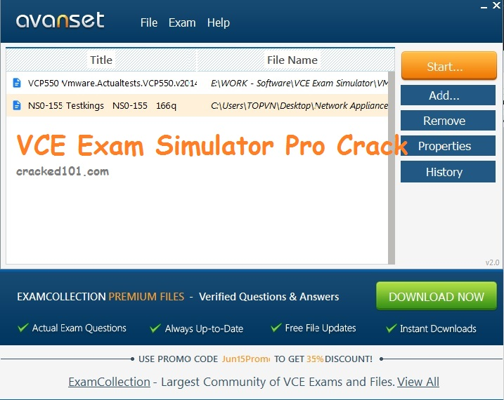 VCE Exam Simulator Pro license key